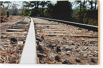 Rail Wood Print by Shawn MacMeekin