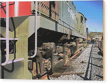Wood Print featuring the photograph Rail Truck by Michael Gordon