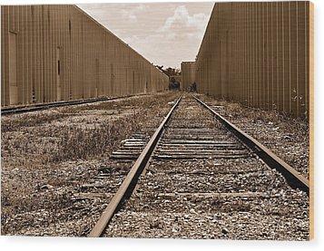 Railroad Wood Print by Andres LaBrada