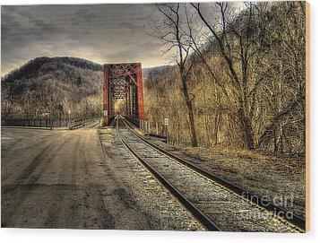 Railroad Bridge Wood Print by Brenda Bostic