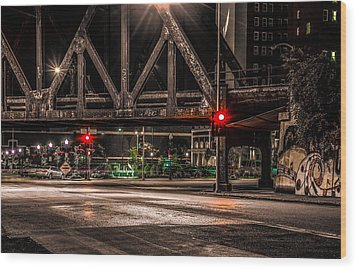 Wood Print featuring the photograph Railroad Bridge by Ray Congrove