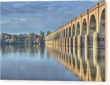 Railroad Bridge Wood Print by Sharon Batdorf
