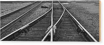 Railroad Highway Wood Print by Jason Drake