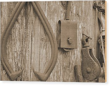 Railroad Tools  Wood Print by Kirt Tisdale