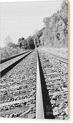Wood Print featuring the photograph Railroad Track by Joe  Ng