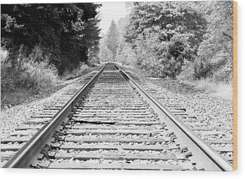 Railroad Tracks Wood Print by Athena Mckinzie