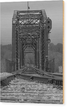 Railroad Trestle Wood Print by Rick McKee