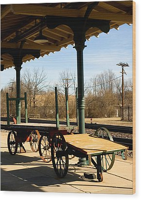 Wood Print featuring the photograph Railroad Wagons by Denise Beverly