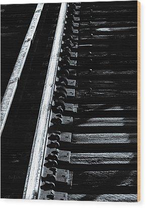 Rails And Ties Wood Print by Bob Orsillo