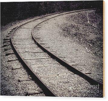 Rails Wood Print by Liz Masoner