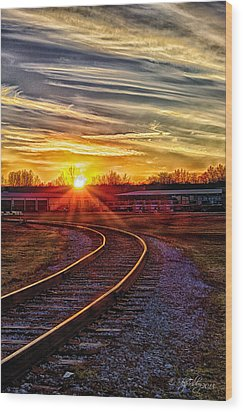 Rails Wood Print by Skip Tribby