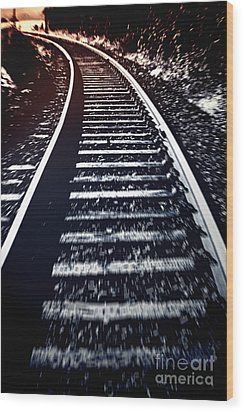 Wood Print featuring the photograph Railtrack by Craig B