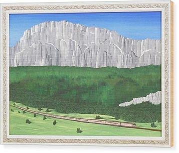 Railway Adventure Wood Print