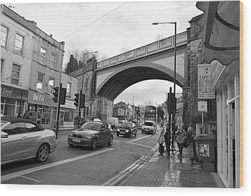 Railway Bridge Wood Print by Bishopston Fine Art