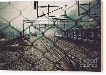 Railway Station Wood Print by Yew Kwang