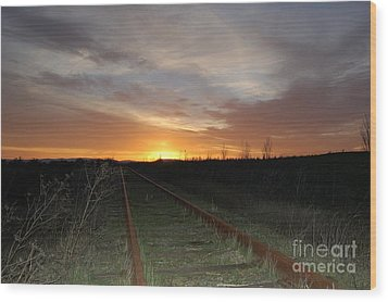 Railway To Wine Country Wood Print by Jordan Rusin