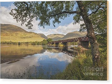 Railway Viaduct Over River Orchy Wood Print