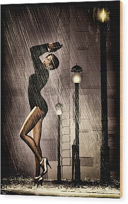 Rain Dance Wood Print by Bob Orsillo