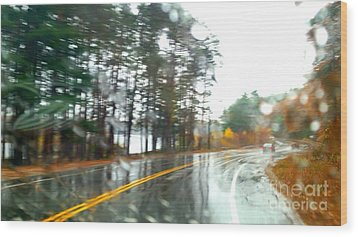 Rain Day Wood Print by Rose Wang