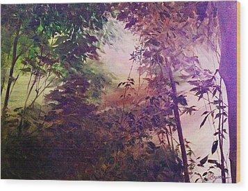 Rain Forest Rhapsody #1 Wood Print
