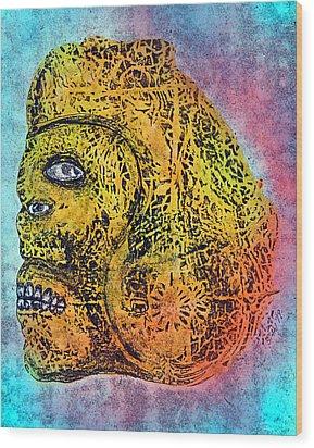 Rain God Wood Print by Dennis Stahl