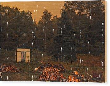 Rain In The Adirondacks Wood Print