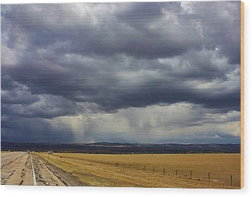 Rain In Wyoming Wood Print by Bruce Bley
