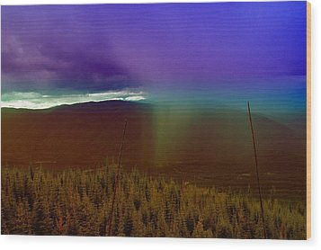 Rain North Of Bonners Ferry Wood Print by Jeff Swan