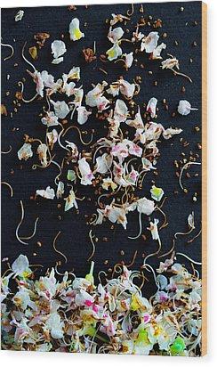Rain Of Petals Wood Print by Edgar Laureano