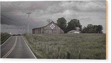 Rain Rolling In Wood Print by Heather Applegate