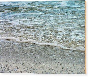 Rain Sea  Wood Print