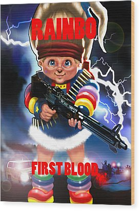 Rainbo First Blood Wood Print by Tim Myers
