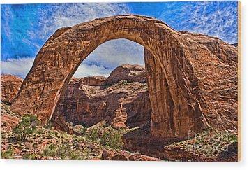 Rainbow Arch Wood Print