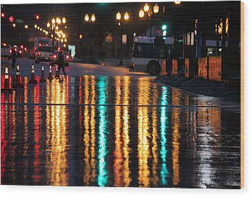 Rainbow Ave Wood Print by Jerome Lynch