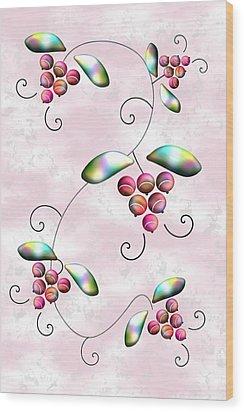 Rainbow Berries Wood Print by Anastasiya Malakhova