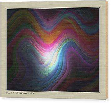Wood Print featuring the digital art Rainbow Birth by Pedro L Gili