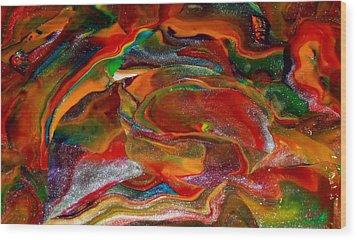 Rainbow Blossom Wood Print