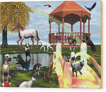 Rainbow Bridge Wood Print by Michele Wilson