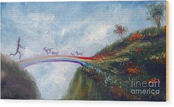 Rainbow Bridge Wood Print by Stella Violano