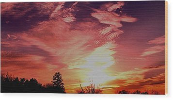 Wood Print featuring the photograph Rainbow Clouds by Candice Trimble