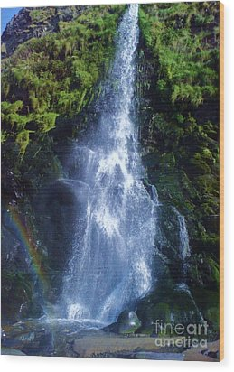 Wood Print featuring the photograph Rainbow Falls by John Williams