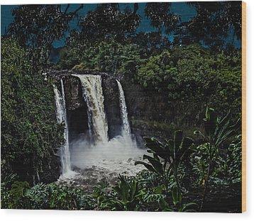 Wood Print featuring the photograph Rainbow Falls by Randy Sylvia