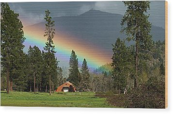 Wood Print featuring the photograph Rainbow Forest by Julia Hassett
