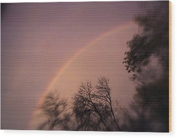 Wood Print featuring the photograph Rainbow by Heather Green