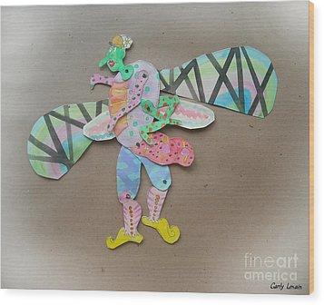 Rainbow Lady Bug 2003 Wood Print by Carly Lenain