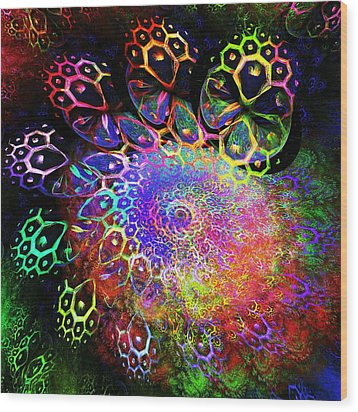 Rainbow Leopard Wood Print by Anastasiya Malakhova