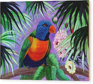 Rainbow Lorikeets. Wood Print by Fram Cama