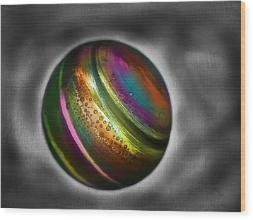 Rainbow Marble Wood Print by Marianna Mills