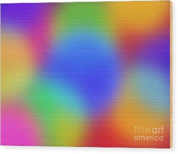 Rainbow Of Colors Wood Print by Gayle Price Thomas