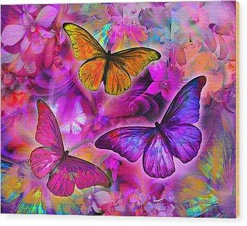 Rainbow Orchid Morpheus Wood Print by Alixandra Mullins